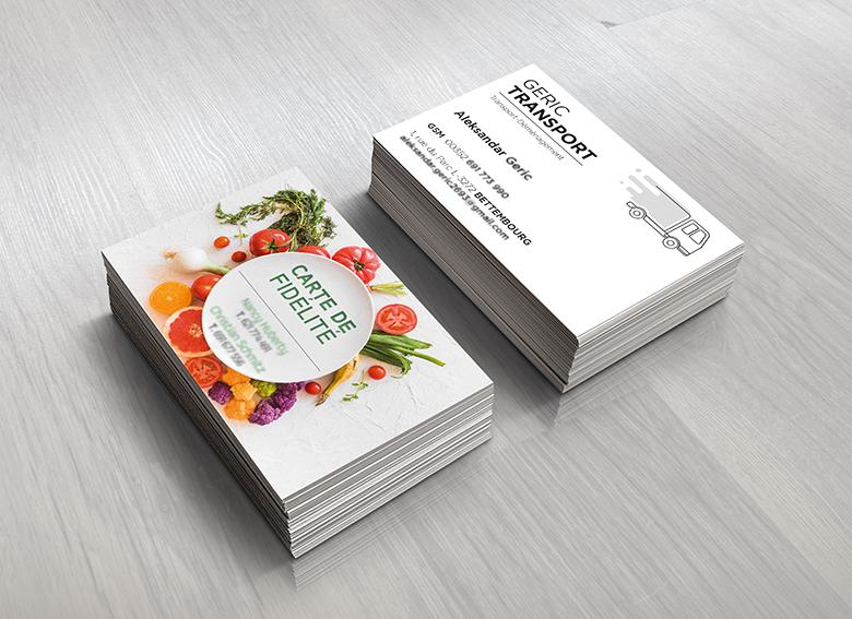 Exemplaires de cartes de visite
